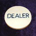 Dealer Button 49mm diameter 6mm thick