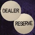 Dealer-Reserve Button 50mm diameter 6mm thick