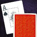 Very High Quality Standard Width Super Index Burgundy Playing Cards