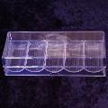 100 Capacity Chip Tray With Lid Clear Acrylic