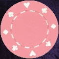 Pink Card Suit chip 11.5gm