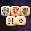 Pack of 5 Poker Dice with Rounded Edges