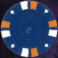 Blue Double Stripe 3 Colour 14gm Poker Chips