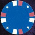 Light Blue Double Stripe 3 Colour 14gm Poker Chips