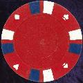Red Double Stripe 3 Colour 14gm Poker Chips