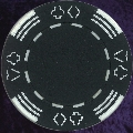 Black Four tab poker chip 11.5gm