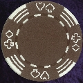 Brown Four tab poker chip 11.5gm