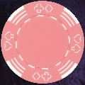 Pink Four tab poker chip 11.5gm