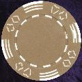 Light Brown Four tab poker chip 11.5gm