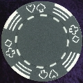 Dark Grey Four tab poker chip 11.5gm