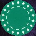 Green Diamond design chip 11.5gm
