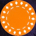 Orange Diamond design chip 11.5gm