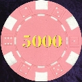 Pink Dice Chip Numbered 5000