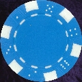 Light Blue six tab dice design heavy chip 11.5gm