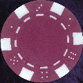 Dark Magenta six tab dice design heavy chip 11.5gm