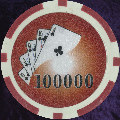 Red Twist 11.5gm Poker Chips Numbered 100 000